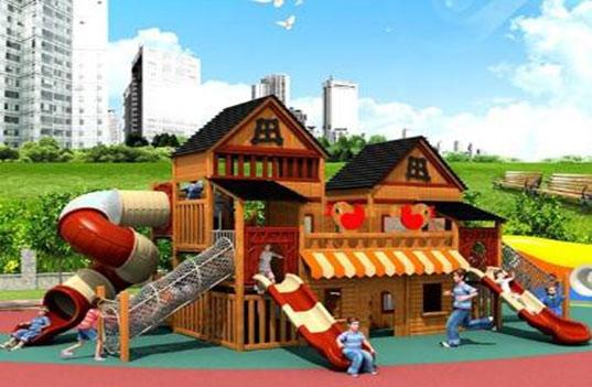 儿童在玩大型幼儿园户外玩具时擦伤该怎么处理?