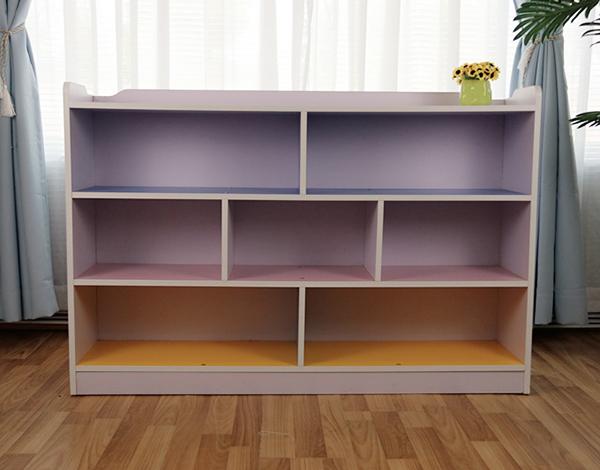 幼儿园实木收纳书架柜