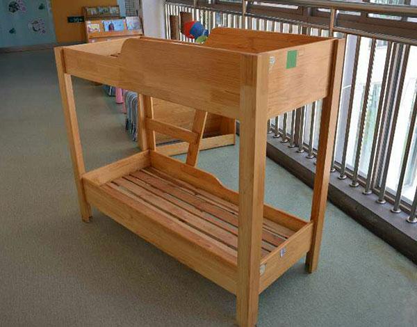 幼儿园实木家具双层床