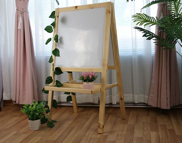 幼儿园实木家具移动白板
