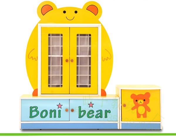 幼儿园实木家具卡通茶杯柜