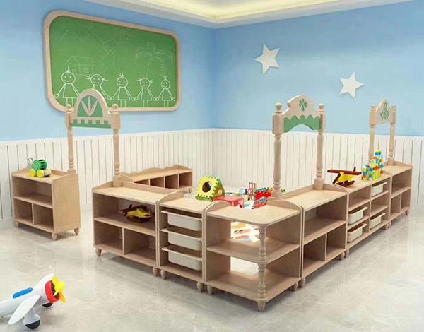 幼儿园木质家具区域活动组合柜