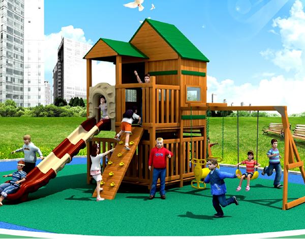 大型户外实木幼儿园玩具