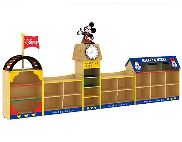 幼儿园大型实木家具区域组合柜