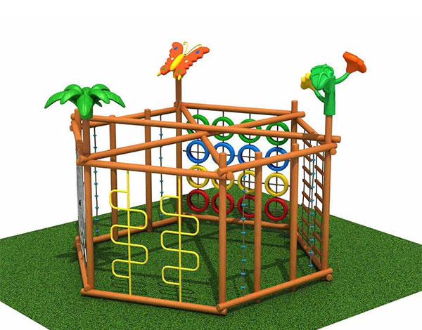 幼儿多功能攀爬墙实木组合