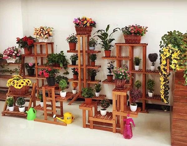 实木家具组合植物架