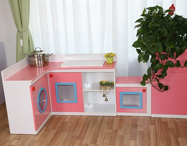 幼儿园实木娃娃家角色厨房扮演系列