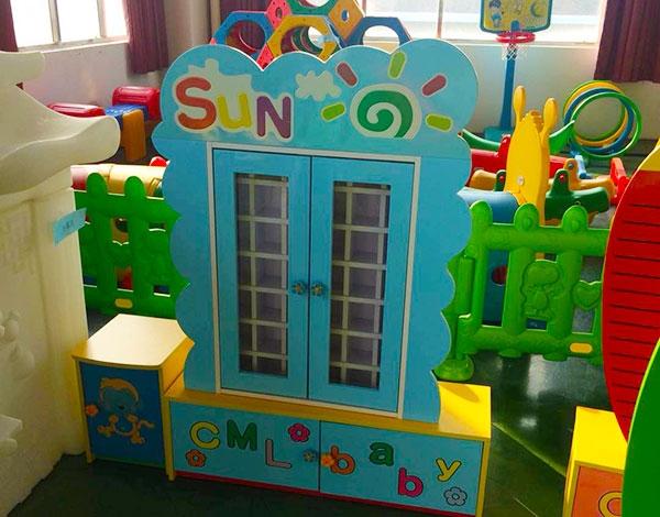 幼儿园实木家具茶杯柜