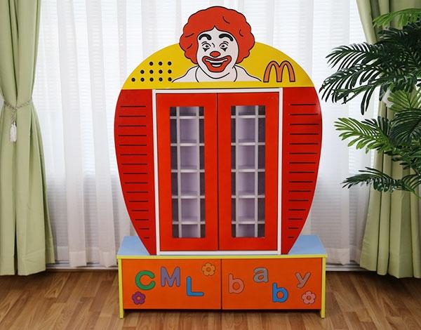 幼儿园实木家具麦当劳茶杯柜