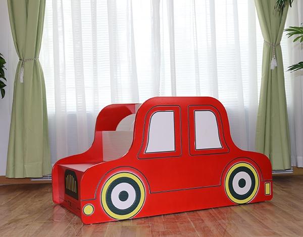 幼儿园实木家具汽车移动书架柜