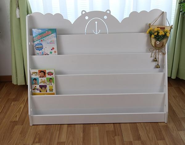 幼儿园实木家具书架柜