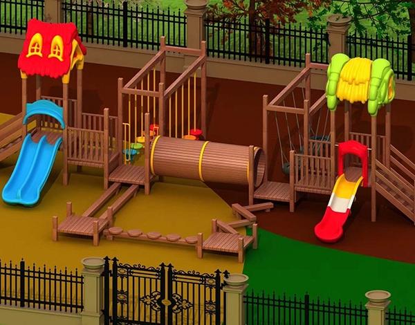 幼儿园木制家具大型户外玩具