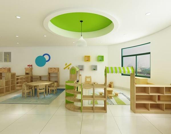 幼儿园家具实木区域活动组合柜