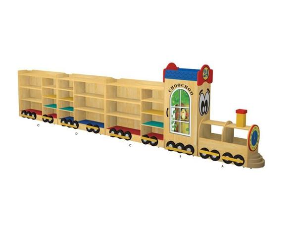 区域木制家具幼儿园组合柜