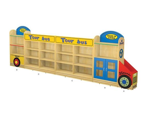 木制实木大型幼儿园木家具区域组合柜