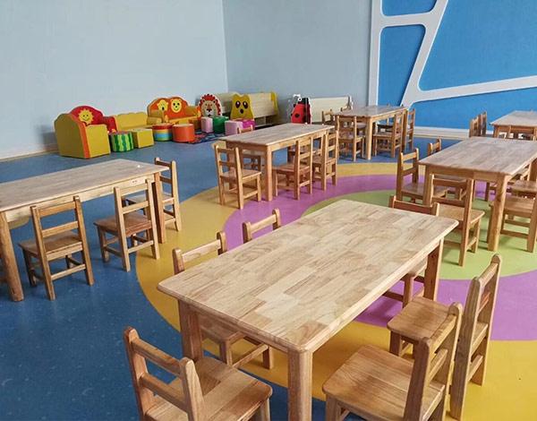 幼儿园实木配套座椅组合