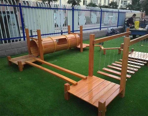 幼儿独木桥实木组合