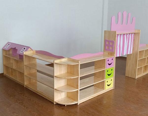幼儿园实木区域组合柜