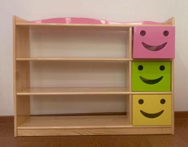 实木幼儿园玩具收纳柜