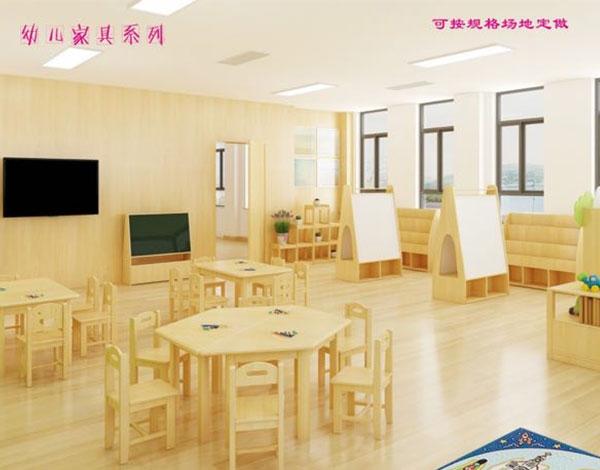 幼儿园实木桌椅组合