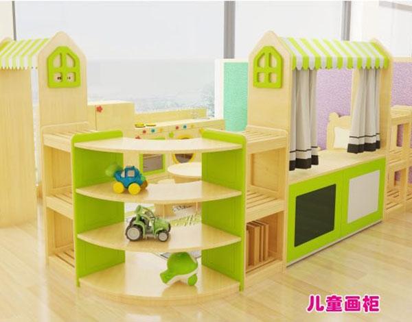 实木儿童书画柜