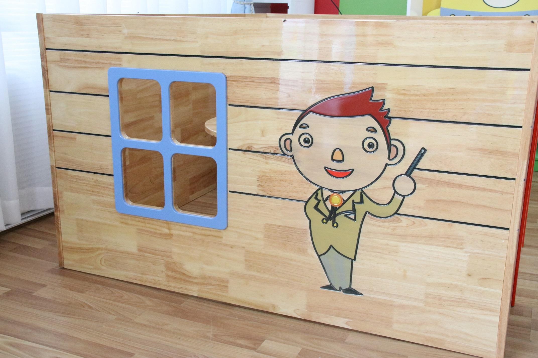 幼儿园实木娃娃家角色银行扮演系列